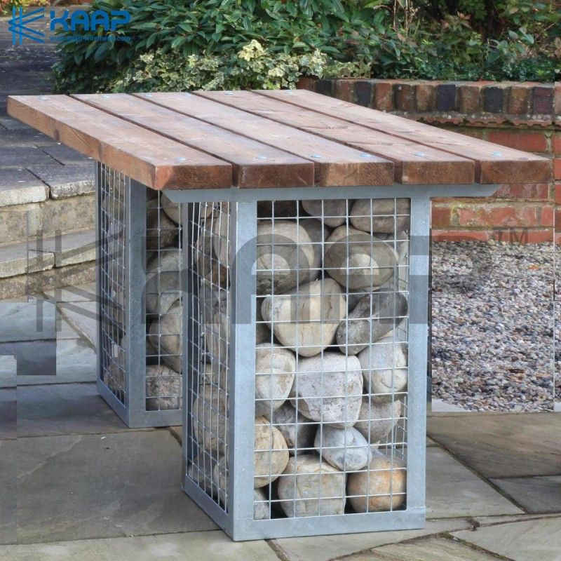 Galvanized frame gabion wall for protection